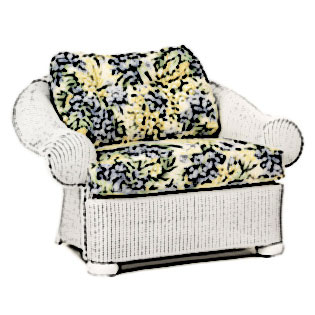Lloyd Flanders Casa Grande chair & half Cushion