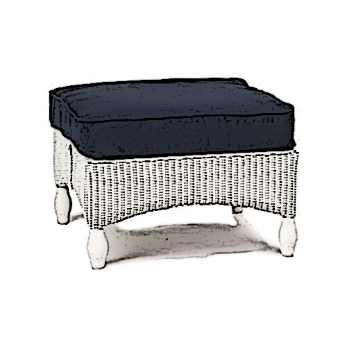 Lloyd Flanders Embassy ottoman Cushion