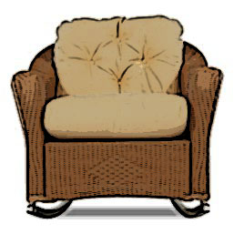 Lloyd Flanders Reflections lounge rocker cushion