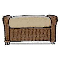 Lloyd Flanders Reflections ottoman cushion