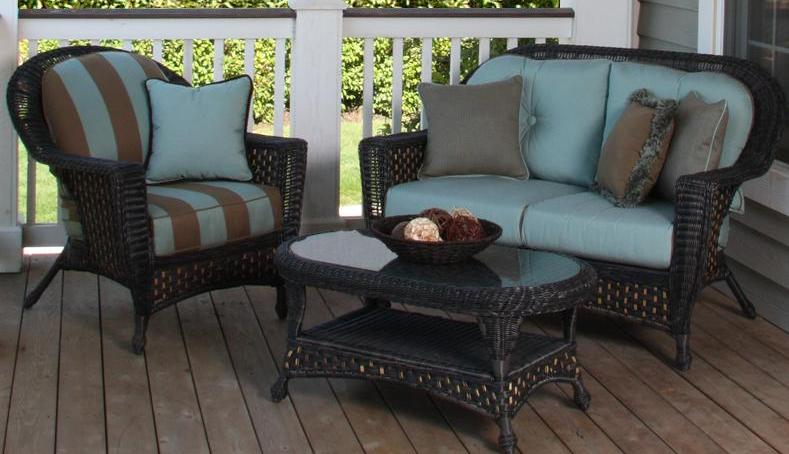 ... Clearance Outdoor Wicker Discounted Sunbrella Replacement Cushions