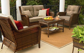 Patio Furniture Replacement Cushions. Furniture Ty Pennington Style  Mayfield 4 Pc Deep Seating Cushions To