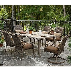 Garden Oasis Nantucket Weathered Outdoor Dining Set Replacement Cushions