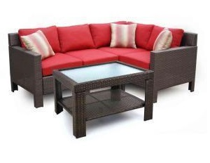 Hampton Bay Beverly 5-Piece Patio Sectional Seating Replacement Cushions