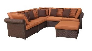 Hampton Bay Cibola 6-Piece Sectional Patio Seating Replacement Cushions