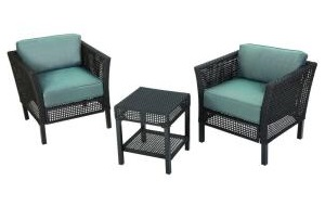 Hampton Bay Fenton Replacement Cushions for 3-Piece Patio Chat Set