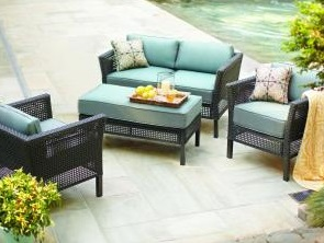 Hampton Bay Fenton Replacement Cushions for 4-Piece Patio Seating Set