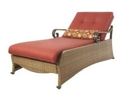 Martha Stewart Living Belle Isle Chaise Lounge Patio Cushions