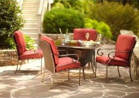 Martha Stewart Living Cedar Island Cushions for 5 piece Patio Dining Set
