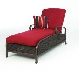 Martha Stewart Living Cedar Island Cushions for Wicker Chaise Lounge