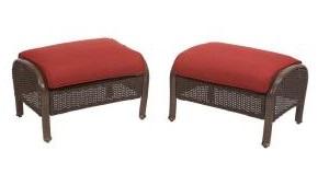 Martha Stewart Living Cedar Island Cushions for Wicker Ottoman