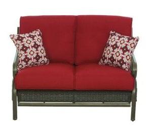 Martha Stewart Living Cedar Island Cushions for Wicker Patio Loveseat