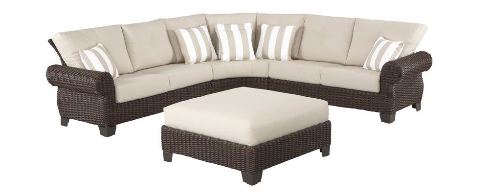 Hampton Bay Mill Valley sectional and ottoman Cushions