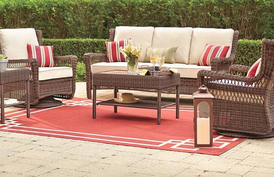 Hampton Bay Park Meadows Cushions Patio Furniture Cushions