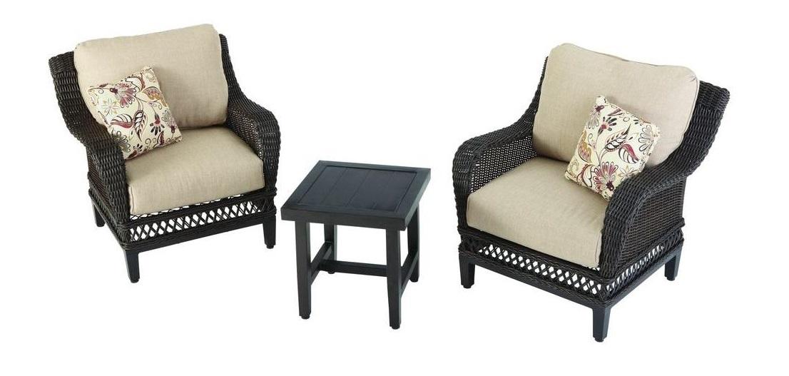 Hampton Bay Woodbury Club Chair Cushions