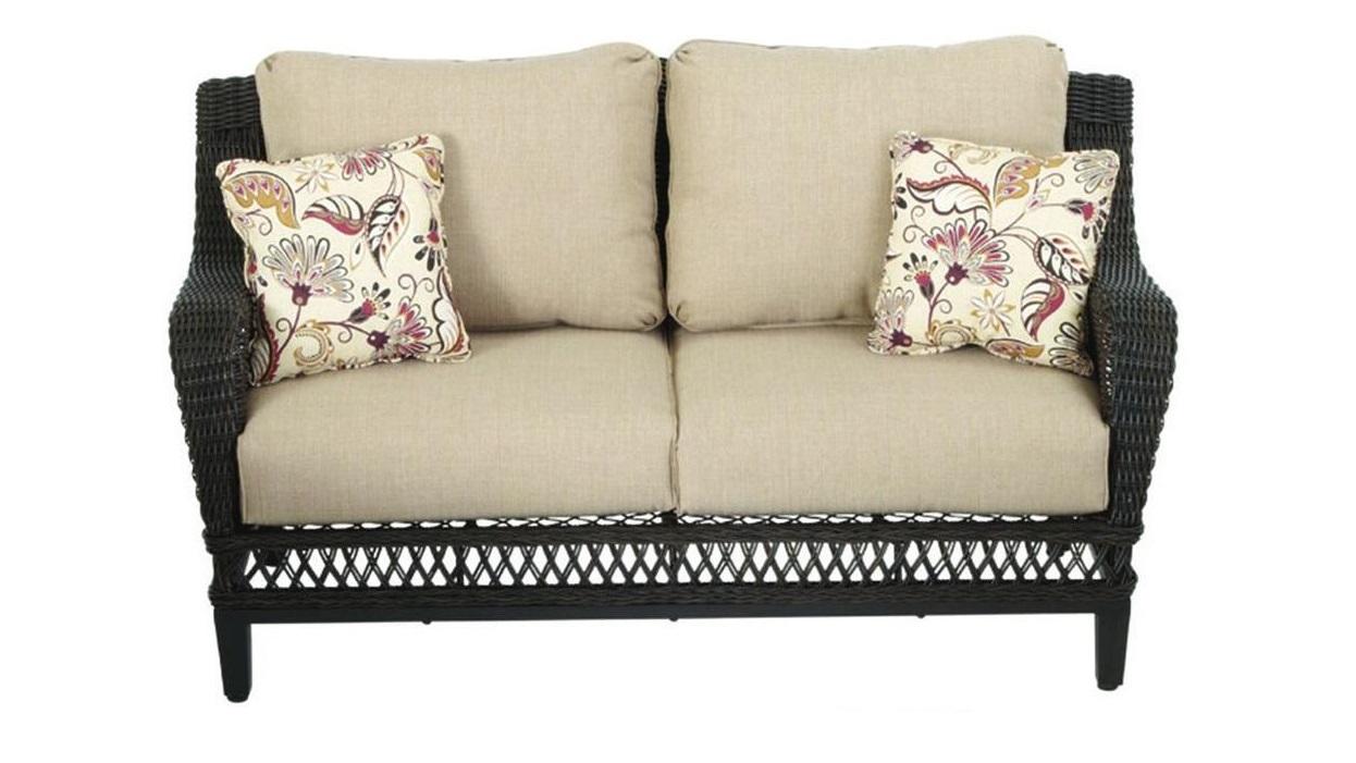 Hampton Bay Woodbury Loveseat Cushions