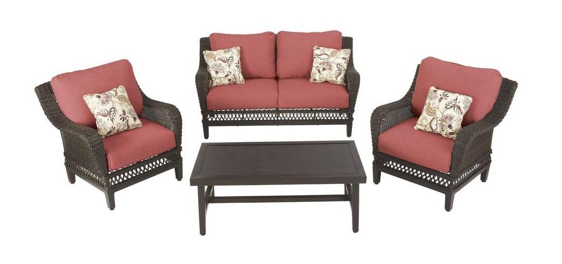 Hampton Bay Woodbury Patio Conversation Set Replacement Cushions