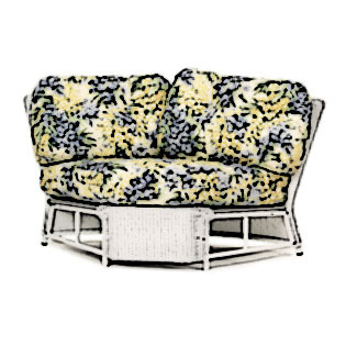 Lloyd Flanders Casa Grande armless sectional corner Cushion