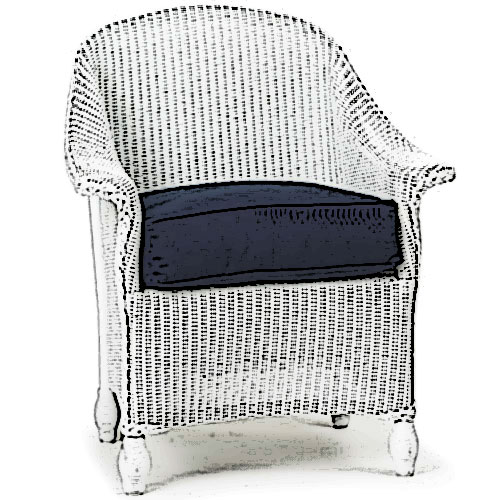 Lloyd Flanders Embassy dining chair Cushion