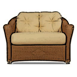 Lloyd Flanders Reflections lounge chair and half cushion