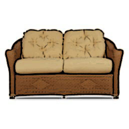 Lloyd Flanders Reflections loveseat cushion