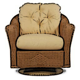 Lloyd Flanders Reflections swivel rocker cushion