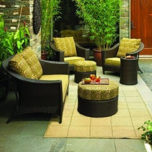 Outdoor Patio South Bali Conversation Furniture Collection Replacement Cushions