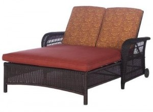 Outdoor Patio Madaga Wicker Double Chaise Lounge Replacement Cushions