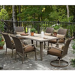 Garden Oasis Nantucket Weathered 7-piece Patio Dining Replacement Cushions