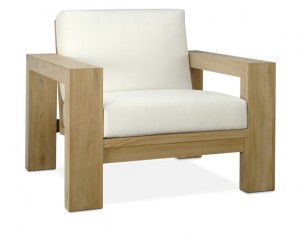 Williams Sonoma Larnaca Outdoor Teak Club Chair