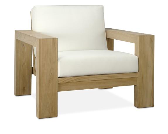 Williams Sonoma Larnaca Outdoor Sofa Teak Club Chair
