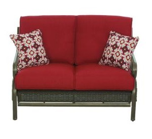 Martha Stewart Living Cedar Island Cushions for Wicker Patio Loveseat
