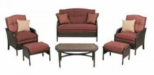 Martha Stewart Living Cushions for Palamos Wicker 6pc Patio Set