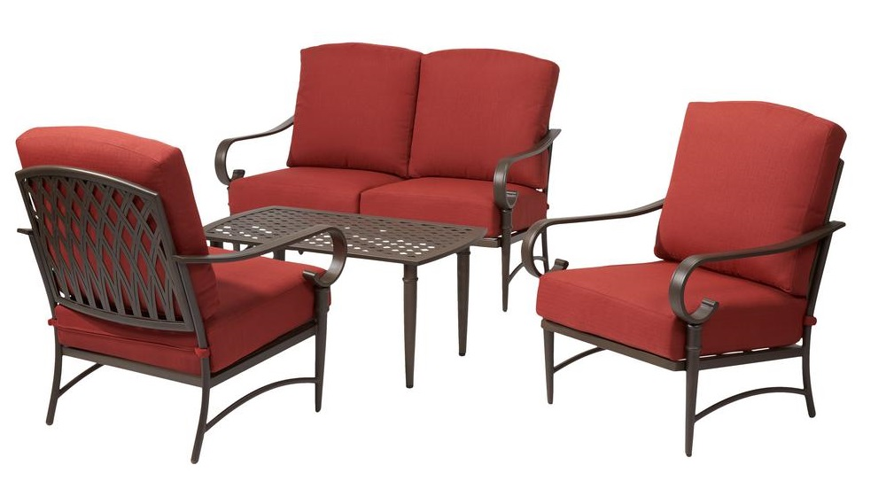 Hampton Bay Oak Cliff Lounge Chairs and Loveseat Replacement Cushions
