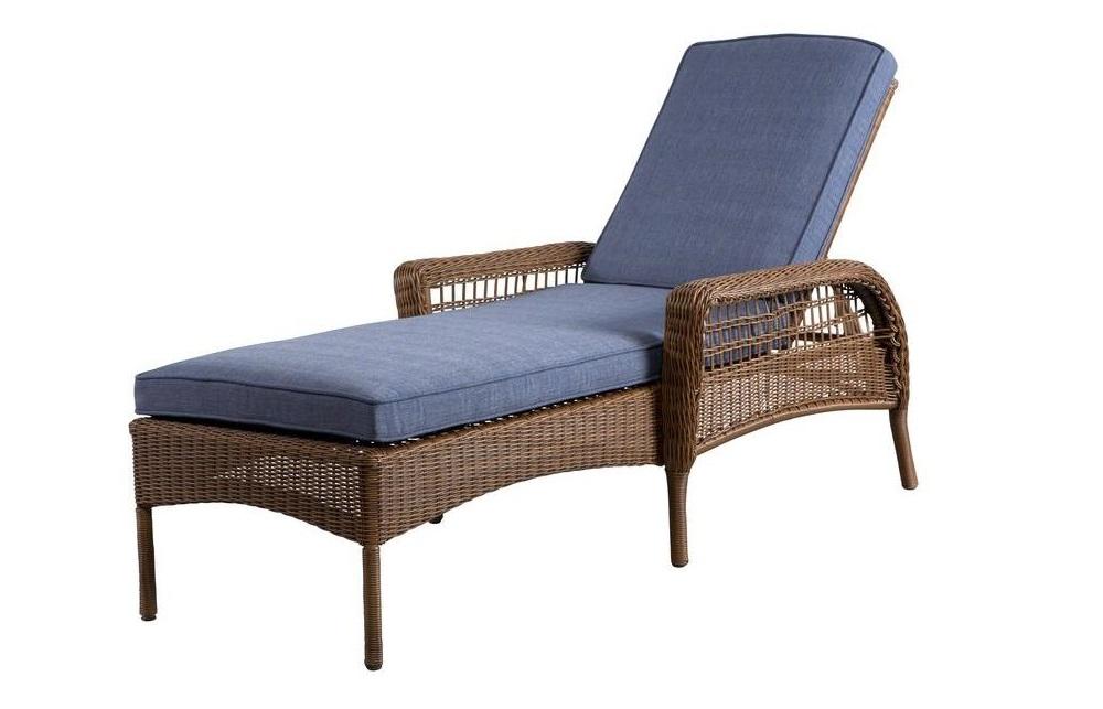Hampton Bay Spring Haven Chaise Lounge Cushion