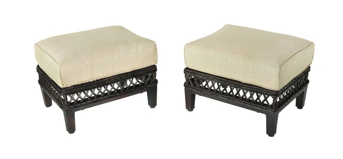 Hampton Bay Woodbury Ottoman Cushion