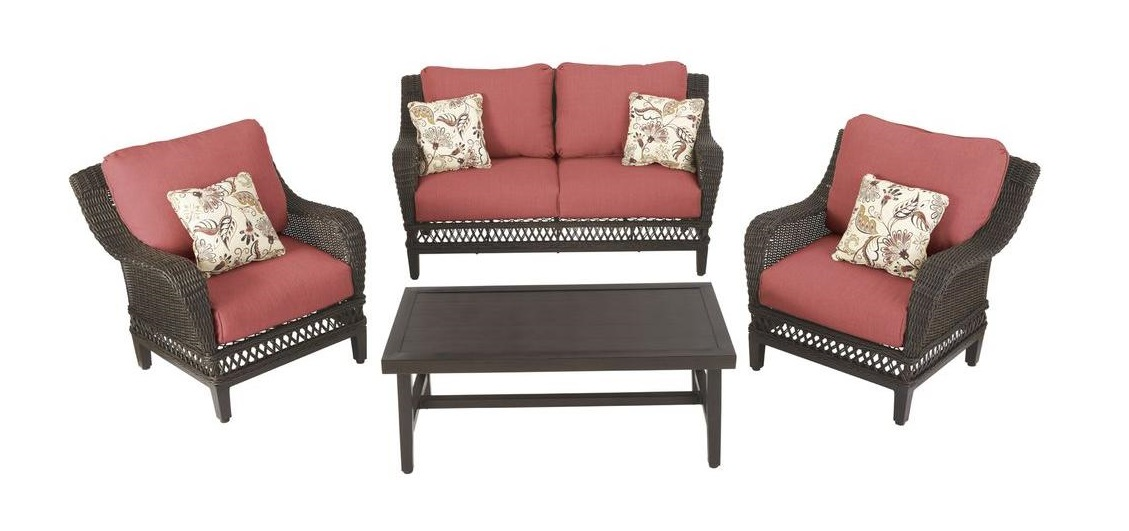 Hampton Bay Woodbury Cushions – Patio Furniture Cushions