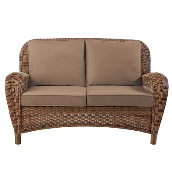 Hampton Bay Beacon Park Loveseat Home Depot Cushions