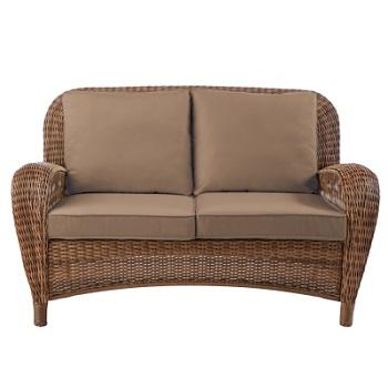 Hampton Bay Beacon Park Loveseat Home Depot Cushions