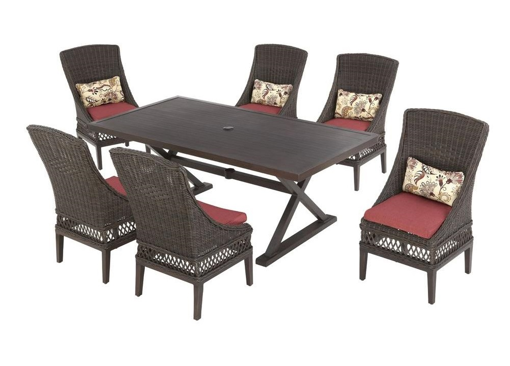 Hampton Bay Woodbury Cushions Patio Furniture Cushions